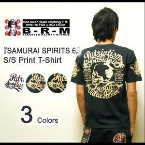 爆烈爛漫娘(B-R-M) 『SAMURAI SPRIT 6』 和柄プリント 半袖Tシャツ エフ商会 爆裂爛漫娘 和メカジ サムライスピリット6 【RMT-191】【RMT191】|robinjeansbug