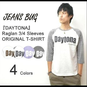 (TB7分袖)『Daytona』 JEANSBUG ORIGINAL PRINT 7分袖Tシャツ オリジナルデイトナ アメカジプリント トライブレンド 七分袖Tシャツ 【7TBT-DAYTO】|robinjeansbug