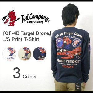 TEDMAN'S(テッドマン) 『QF-4B Target Drone』 ミリタリープリント 長袖Tシャツ 戦闘機 アメカジ ロンT 海軍 NAVY エフ商会 TED 【TDLS-271】【TDLS271】|robinjeansbug