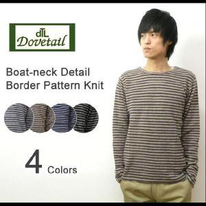 Dovetail(ダブテイル) ボートネック ボーダーニット マリンボーダー ウール素材 ニット 重ね着 キレイめ シンプル 【7185727】|robinjeansbug