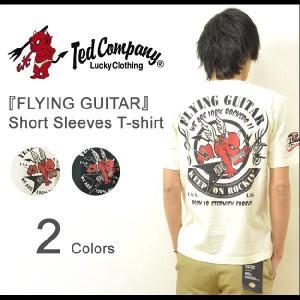 TEDMAN'S(テッドマン) 『FLYING GUITAR』 半袖Tシャツ ギターモチーフ フライングギター フライングV エレキ エフ商会 TED COMPANY 【TDSS-410】【TDSS410】|robinjeansbug