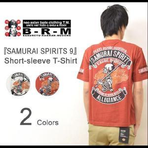 爆烈爛漫娘(B-R-M)  SAMURAI SPIRITS 9 半袖Tシャツ 侍ドクロモチーフ カットソー 和柄 エフ商会 和メカジ スカル サムライ RMT-225 RMT225|robinjeansbug