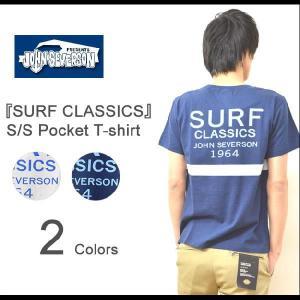 JOHN SEVERSON(ジョンセバーソン) SURF CLASSICS 半袖 ポケットTシャツ ボーダー柄 カットソー バックプリント サーフ サーファー SUNSURF サンサーフ JS76254|robinjeansbug