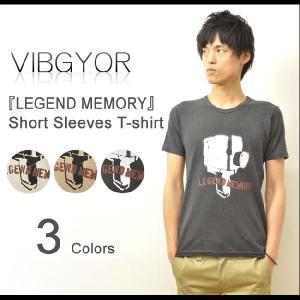 VIBGYOR(ヴィブジョー) LEGEND MEMORY 麻混紡 半袖Tシャツ 綿麻素材 プリントTシャツ ビブジョー リネンコットン アート VG-CL36|robinjeansbug