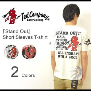 TEDMAN'S(テッドマン) Stand Out 半袖Tシャツ タトゥーデザイン カットソー タトゥースタジオ トライバル エフ商会 TED COMPANY TDSS-408 TDSS408|robinjeansbug