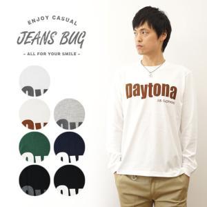 (ロンT)Daytona オリジナルデイトナ アメカジプリント 長袖Tシャツ シンプル 英字 メンズ レディース 大きいサイズ ビッグサイズ対応 LT-DAYTONA|robinjeansbug