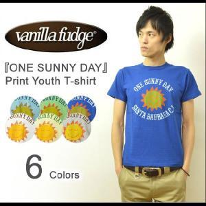 VANILLA FUDGE(ヴァニラファッジ) ONE SUNNY DAY プリント ユースTシャツ メンズ 半袖Tシャツ レディ−ス ユニセックス 太陽 アメカジ JV-2015327|robinjeansbug