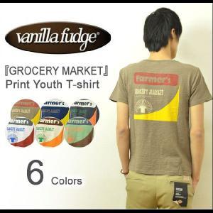 VANILLA FUDGE(ヴァニラファッジ) GROCERY MARKET プリント ユースTシャツ メンズ 半袖Tシャツ スラブ生地 レディ−ス ユニセックス グロッサリー JV-2095310|robinjeansbug