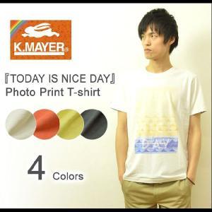 KRIFF MAYER(クリフメイヤー) TODAY IS NICE DAY 半袖 Tシャツ メンズ フォトT フォトプリント カットソー サーフT マリン クルーネック 1357014|robinjeansbug