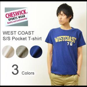 CHESWICK(チェスウィック) WEST COAST ポケットTシャツ メンズ 半袖Tシャツ チェーン刺繍 スラブTシャツ ウエストコースト 杢 アメカジT 東洋 CH76547|robinjeansbug