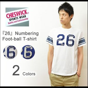CHESWICK(チェスウィック) 26 フットボールTシャツ メンズ 半袖Tシャツ アメカジTシャツ ナンバーリング スポーツ パッチワーク ワッペン 東洋 CH76657|robinjeansbug