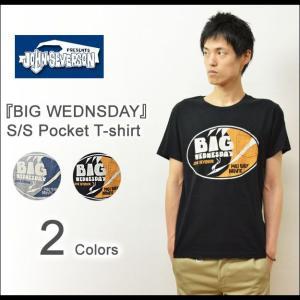 JOHN SEVERSON(ジョンセバーソン) BIG WEDNSDAY ポケットTシャツ メンズ 半袖Tシャツ ロゴデザイン サーフブランド サーファー SUNSURF サンサーフ JS76665|robinjeansbug