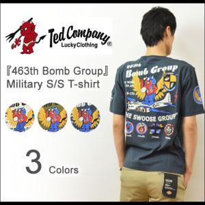 TEDMAN'S(テッドマン) 463th Bomb Group ミリタリー プリントTシャツ メンズ 半袖Tシャツ 空軍 エアフォース バックプリント エフ商会 TED COMPANY TDSS-416|robinjeansbug