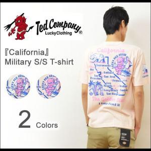 TEDMAN'S(テッドマン) California ミリタリー プリントTシャツ メンズ 半袖Tシャツ カリフォルニア アメリカ バックプリント エフ商会 TED COMPANY TDSS-418|robinjeansbug