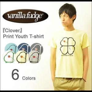 VANILLA FUDGE(ヴァニラファッジ) Clover プリント ユースサイズ 半袖Tシャツ メンズ レディ−ス ユニセックス クローバー 四つ葉 テントウムシ JV-2015428|robinjeansbug