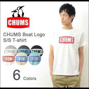 CHUMS チャムス ボートロゴ 半袖 Tシャツ メンズ プリント Tシャツ アウトドア 定番 ペンギン シンプル ブランド ロゴ フェス Sサイズ 2016 新作 CH01-1010|robinjeansbug