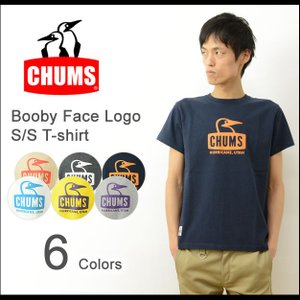 CHUMS チャムス ブービーフェイス ロゴ 半袖 Tシャツ メンズ プリント Tシャツ アウトドア 定番 ペンギン シンプル ブランド フェス Booby Face 2016 CH01-1011|robinjeansbug