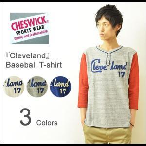 CHESWICK(チェスウィック) 7分袖 ベースボールTシャツ メンズ ヘンリー 袖切り替え 東洋エンタープライズ アメカジ ビンテージ ヴィンテージ CH66872|robinjeansbug