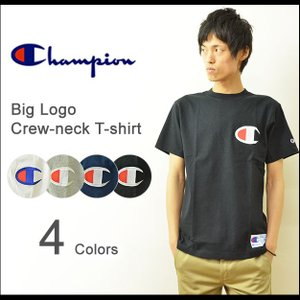 Champion(チャンピオン) ビッグロゴ クルーネック 半袖Tシャツ メンズ ロゴ 厚手 アメカジ スポーツ 大きいサイズ C3-F362|robinjeansbug