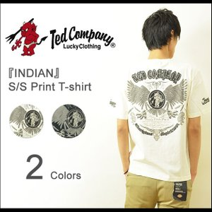 TEDMAN'S(テッドマン) INDIAN インディアン プリントTシャツ メンズ 半袖 ネイティブ イーグル バックプリント エフ商会 TED COMPANY TDSS-436 TDSS436|robinjeansbug