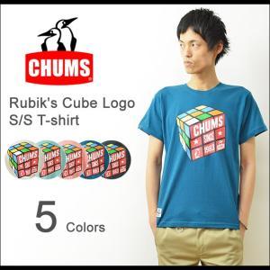 CHUMS(チャムス) ルービックキューブTシャツ メンズ チャムスロゴ 半袖 プリント ブービー アウトドア ペンギン ブランド 夏フェス レディース CH01-1039|robinjeansbug
