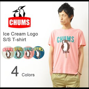 CHUMS(チャムス) アイスクリームTシャツ メンズ ロゴ 半袖 プリント ブービー アウトドア ペンギン ブランド 夏フェス レディース CH01-1044|robinjeansbug