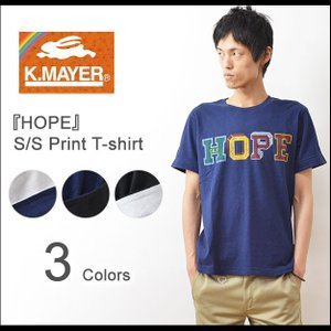 KRIFF MAYER(クリフメイヤー) HOPE 半袖 Tシャツ メンズ ロゴT プリント カットソー アメカジ クルーネック スポーツ 西海岸 ホープ フロッキー 1437017E|robinjeansbug