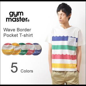 gym master(ジムマスター) 波 ボーダー ポケットTシャツ メンズ 半袖 ボーダー Vネック ポケT フロックフロッグ カエル G333369|robinjeansbug