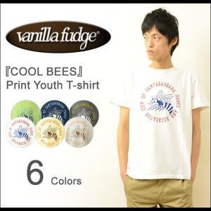 VANILLA FUDGE(ヴァニラファッジ) COOL BEES プリント ユースTシャツ メンズ 半袖 レディ−ス ユニセックス 男女兼用 バニラファッジ ハチ 蜂 2015519|robinjeansbug