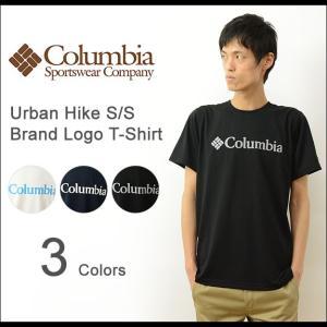 Columbia コロンビア Urban Hike 吸湿速乾 ブランド ロゴ 半袖 Tシャツ メンズ オムニウィック サンプロテクション 紫外線 アウトドア 機能性 PM1227|robinjeansbug