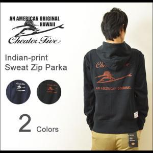 Cheater Five(チーターファイブ) インディアン スウェット ジップパーカー メンズ スエット パーカ フード トレーナー 厚手 チーター5 CF549454|robinjeansbug