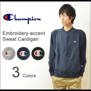 Champion(チャンピオン) ワンポイント 刺繍 スウェット カーディガン メンズ トレーナー スエット ジャケット ロゴ刺繍 厚手 大きいサイズ C3-G023|robinjeansbug
