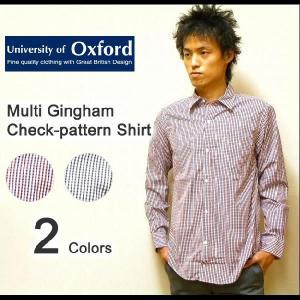 University of Oxford(ユニバーシティオブオックスフォード) L/Sマルチギンガムチェック オックスフォードシャツ 長袖 【0701-95022】|robinjeansbug