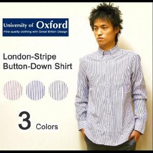 University of Oxford(ユニバーシティオブオックスフォード) L/Sロンドンストライプ オックスフォードボタンダウンシャツ 長袖 【0701-05002】|robinjeansbug
