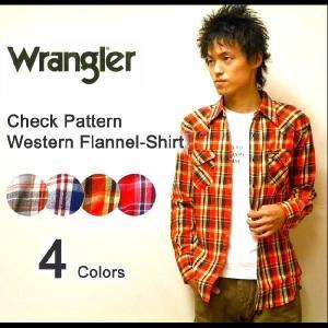 Wrangler(ラングラー) チェック柄 ウエスタンヨーク L/Sヘビーフランネルシャツ 長袖 【W9214】|robinjeansbug