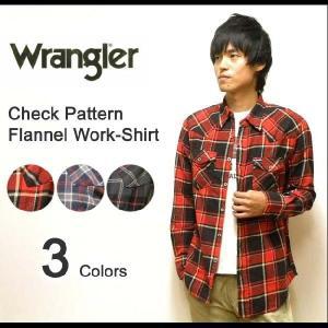 Wrangler(ラングラー) ワークディテール チェック柄 フランネルシャツ 長袖 ネルシャツ 【W9231】|robinjeansbug