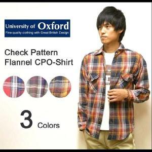 University of Oxford(ユニバーシティオブオックスフォード) ワークディテール チェック柄 CPOシャツ 長袖 ヘビーネルシャツ CPOジャケット 【0701-15028】|robinjeansbug