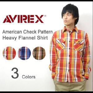AVIREX(アヴィレックス) アメリカンチェック柄 ヘヴィーフランネルシャツ 厚手ネルシャツ ワークシャツ ヘビーフランネル アメカジシャツ 【6125071】|robinjeansbug