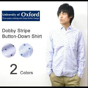 University of Oxford(ユニバーシティオブオックスフォード) ドビーストライプ ボタンダウンシャツ 長袖 ドビー織り BDシャツ ドット 小紋柄【0701-25026】|robinjeansbug