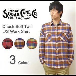 SUGAR CANE(シュガーケーン) ソフトツイル素材 チェック柄 長袖 ワークシャツ フランネル チェックシャツ タータンチェック ネルシャツ SC26305|robinjeansbug