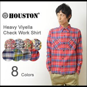 HOUSTON(ヒューストン) へヴィー ビエラ チェック ワークシャツ メンズ 厚手 ビエラ ネルシャツ ヘビーオンス アメカジ 40120 40120CZ 40108CZ|robinjeansbug