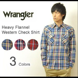 Wrangler(ラングラー) ヘヴィーフランネル ウエスタン チェックシャツ チェック柄 厚手ネルシャツ ビエラシャツ ウェスタンシャツ ヘビーネルシャツ W9255|robinjeansbug