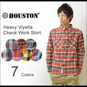 HOUSTON(ヒューストン) へヴィー ビエラ チェック ワークシャツ メンズ 厚手 ネルシャツ ヘビーオンス アメカジ XL 40108|robinjeansbug