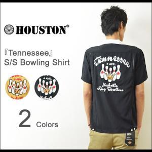 HOUSTON(ヒューストン) Tennessee ボーリングシャツ メンズ 半袖 チェーン刺繍 レーヨン レトロ ロカビリー ロック スカ ボウリング 40073|robinjeansbug