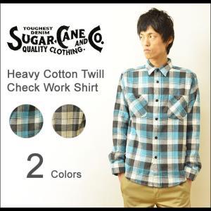 SUGAR CANE(シュガーケーン) へヴィー コットンツイル チェック ワークシャツ メンズ 長袖 ネルシャツ 厚手 ヘビー アメカジ ワーク 日本製 SC27064 robinjeansbug