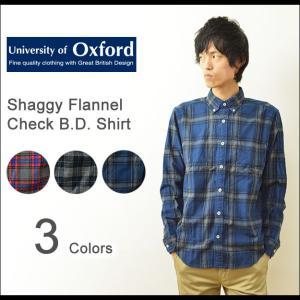 University of Oxford(オックスフォード) シャギー フランネル チェックシャツ メンズ 長袖 ネルシャツ ボタンダウン 起毛 アメカジ トラッド 0701-55114|robinjeansbug