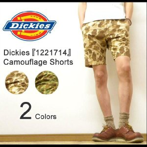 Dickies(ディッキーズ) Camouflage Shortpants リップストップ素材 カモフラ柄 ショートパンツ カモフラージュ 膝丈ハーフパンツ ワークパンツ 【1221714】|robinjeansbug