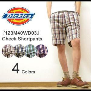 Dickies(ディッキーズ) Check Shortpants コットン素材 チェック柄 ショートパンツ 膝丈ショーパン ハーフパンツ ワークパンツ チノパンツ 【123M40WD03】|robinjeansbug
