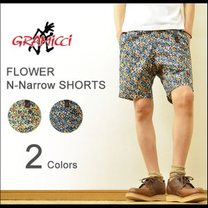 GRAMICCI(グラミチ) FLOWER NN-SHORTS フラワー ニューナロー ショーツ メンズ ショートパンツ 花柄 アウトドア クライミング ハーフパンツ GMP-15S004|robinjeansbug