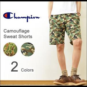 Champion(チャンピオン) リバースウィーブ カモフラ柄 ショートパンツ メンズ ショーツ スウェット スエット 迷彩 アメカジ ミリタリー ボトム C3-D527|robinjeansbug